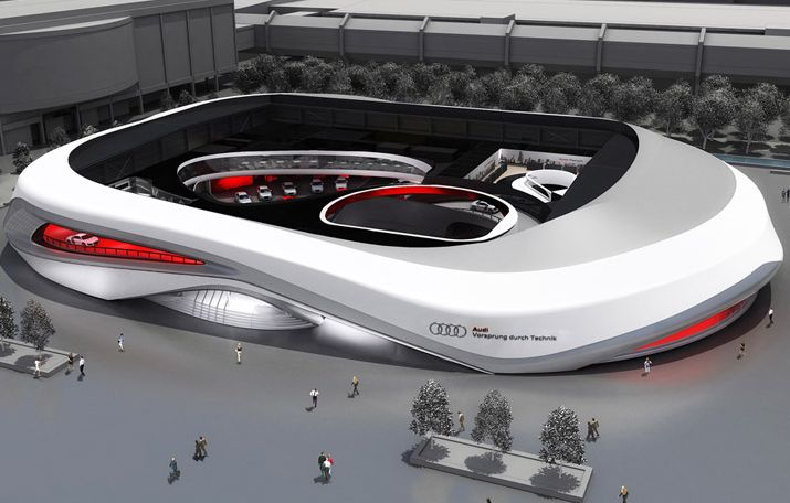 Audi ring for frankfurt motor show 2011