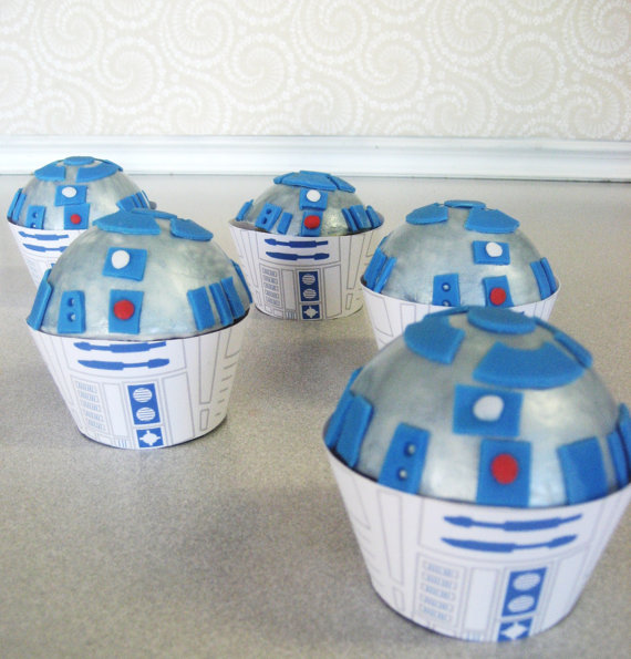 R2D2 Star Wars CUPCAKE toppers