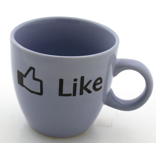 Facebook Teacup Mug Like It