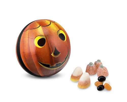 Candy-Filled Mache Pumpkin