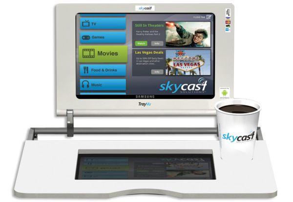 trayvu in-flight entertainment tray table tablet