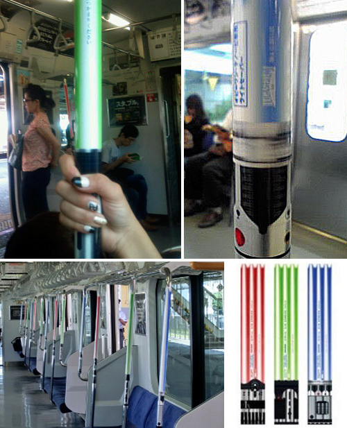 Trains In Tokyo Upgraded With Lightsaber Railings