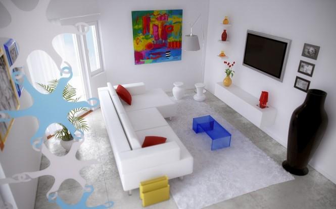 Artistic Interiors from Pixel3D