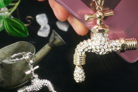 Faucet Cell Phone Charm