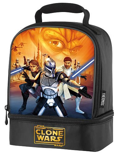 Star Wars The Clone Wars Dual Compartment Lunch Bag