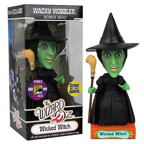 Wizard of Oz Glow Wicked Witch Bobble Head