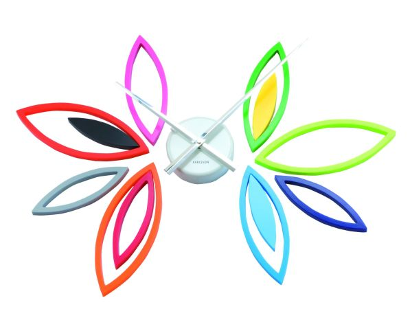 Multi-Colored Leaves/Flower Wall Clock