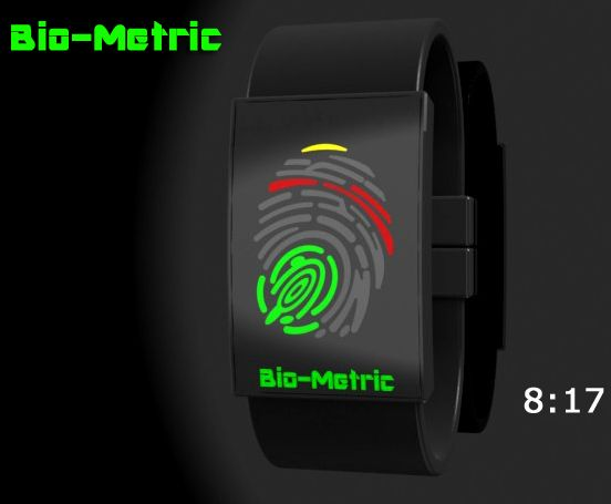 Bio-Metric LED Watch Design