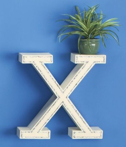 Wall Shelf, X-Shaped