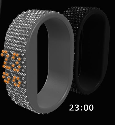 3D Pins Watch Design