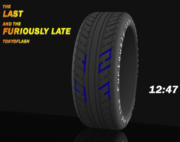 Tyre Concept LED Watch Design