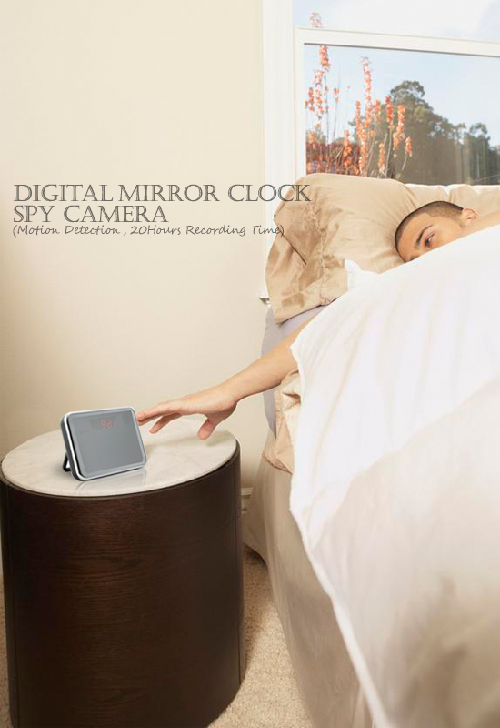 Digital Mirror Clock Spy Camera