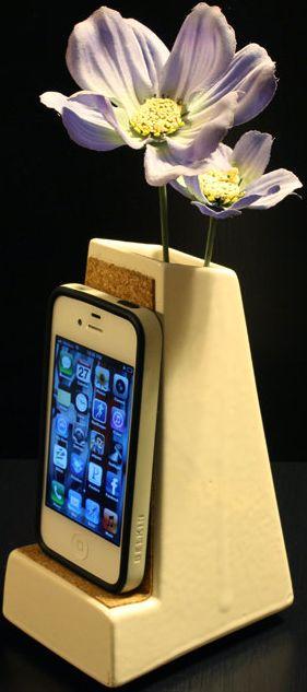 Phone Dock Vase