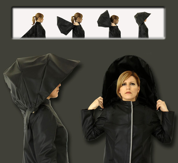 Umbrella Coat Raincoat concept