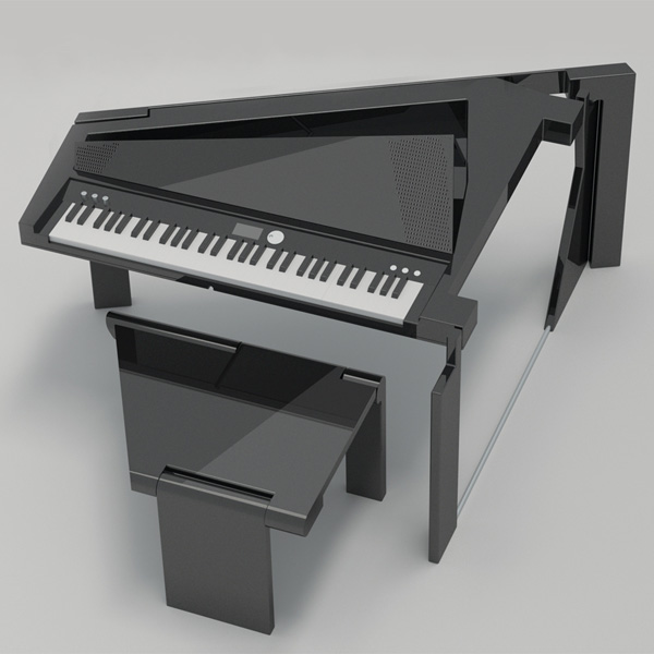 Foldable Digital Grand Piano