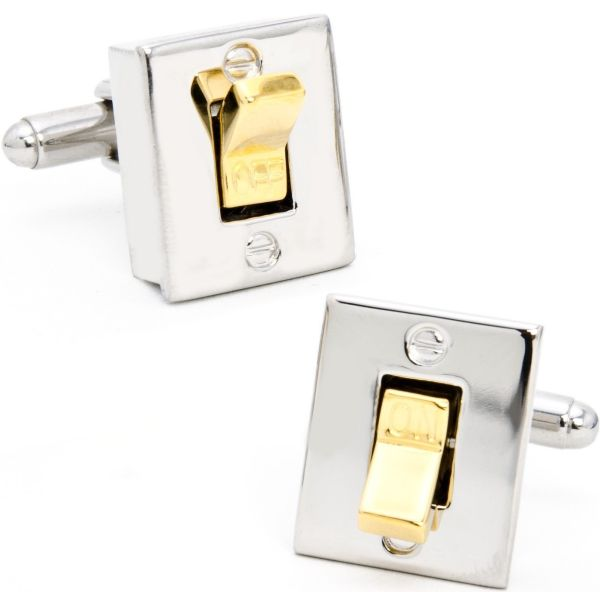 Inc Light Switch Cufflinks