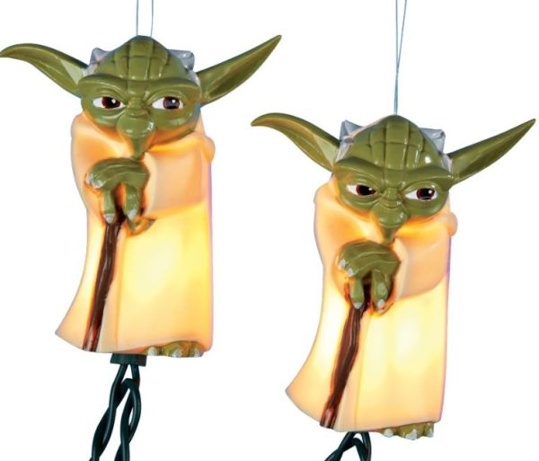 Clone Wars Yoda 10-Light String of Party Lights