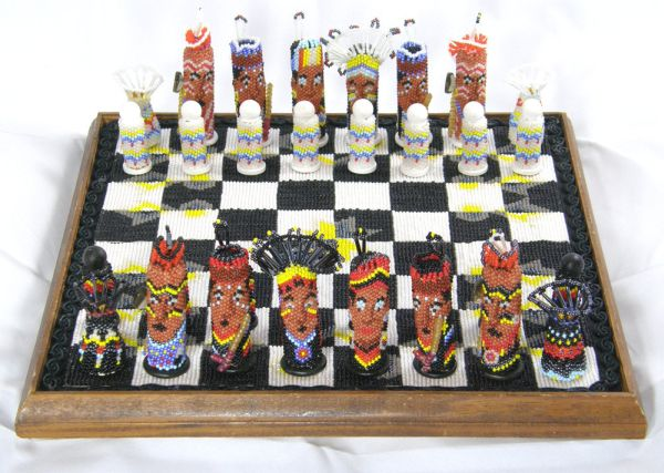 Beaded Chess Set