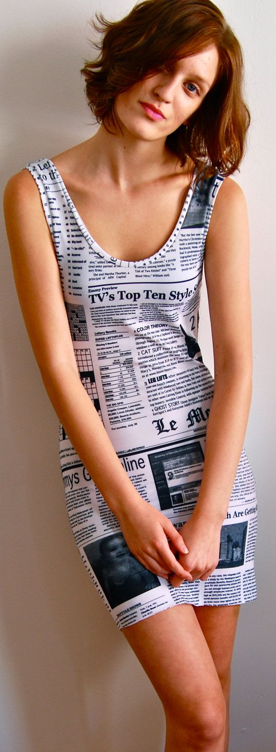 Read Me Newspaper Dress