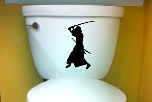 Samurai DECAL toilet