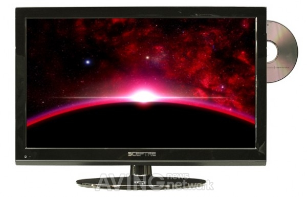 Sceptre 19-inch LED HDTV with built-in DVD player