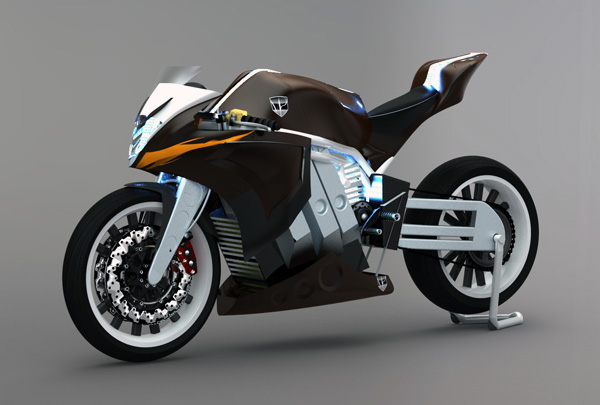 M2 electric racing motorcycle