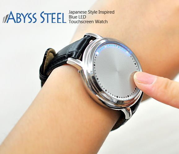 Abyss Steel LED Touchscreen Watch