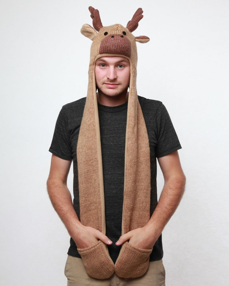 Moose Animal Hat Hood