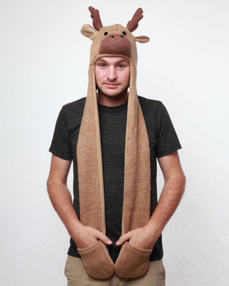 Moose Animal Hat Hood