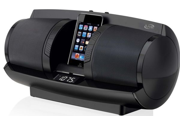 iLive Portable Radio with Dock for iPod