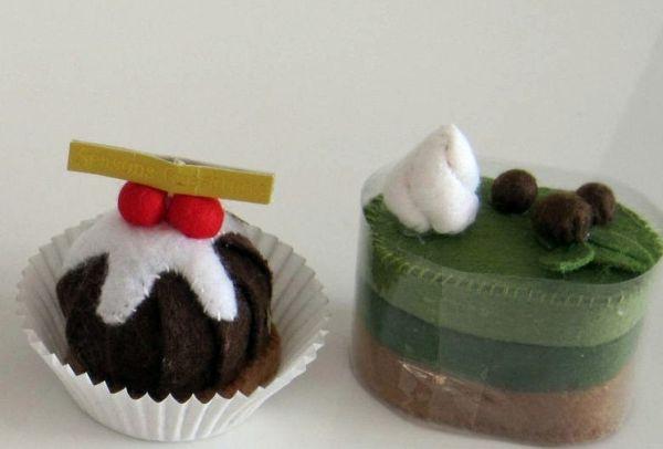 Handmade Felt Cakes