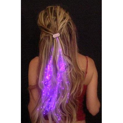 Glowbys Fiber-Optic Hair Barrettes