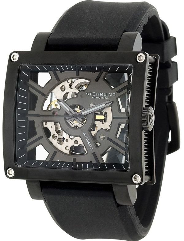 Stuhrling Original Men's Metro Collection Axis Automatic Skeleton Watch