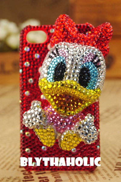 Daisy Duck 3D Bling Swarovski IPhone hard Case
