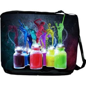 Splash of Color Design Messenger Bag - Book Bag - Reporter Bag