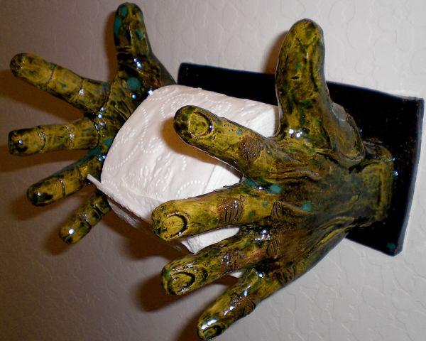 """Toilet Paper Hand""""Holder"""""""