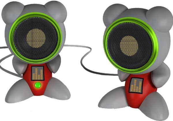 Funkeys Sculpted Computer Speakers