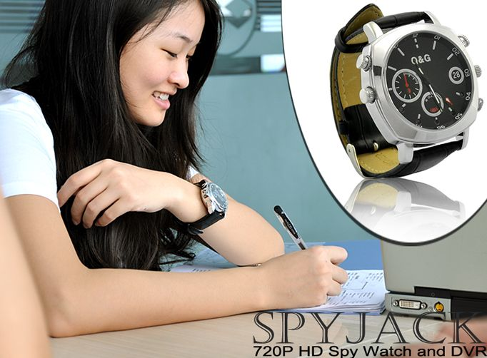 720P HD Spy Watch and DVR (Waterproof, Nightvision, Motion Detection, 8GB)