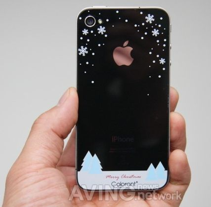 Snowing protection film for I-phone 4S
