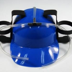 Blue Beer Soda Guzzling Party Drinking Hat Helmet