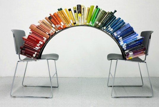 Rainbow Spectrum Book Sculpture