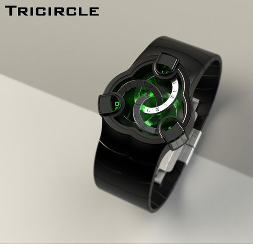 Tricircle watch