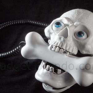 umping Eyes Skull Phone with Bone Headset