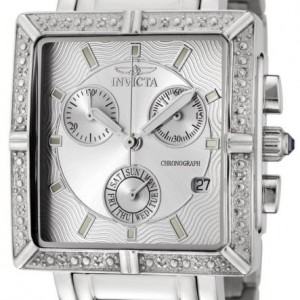 Invicta Women's 5377 Square Angel Diamond Stainless Steel Chronograph Watch