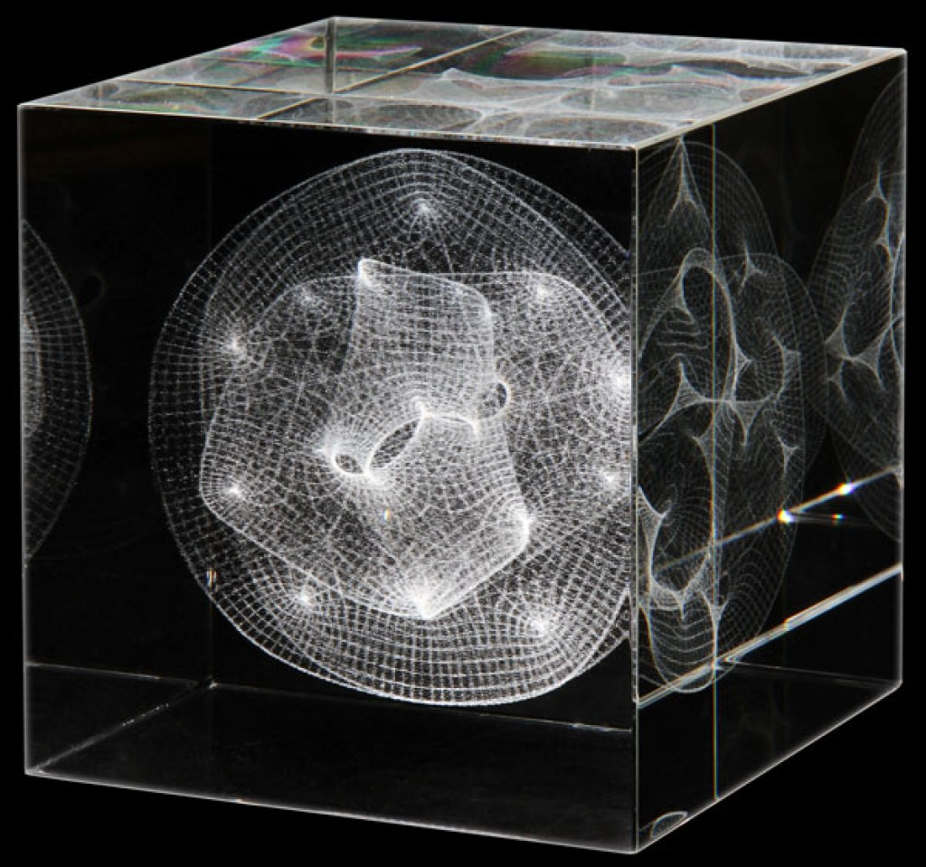 Calabi Yau Manifold Glass Sculpture Gadgets Matrix