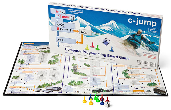 c-Jump Computer Programming Board Game