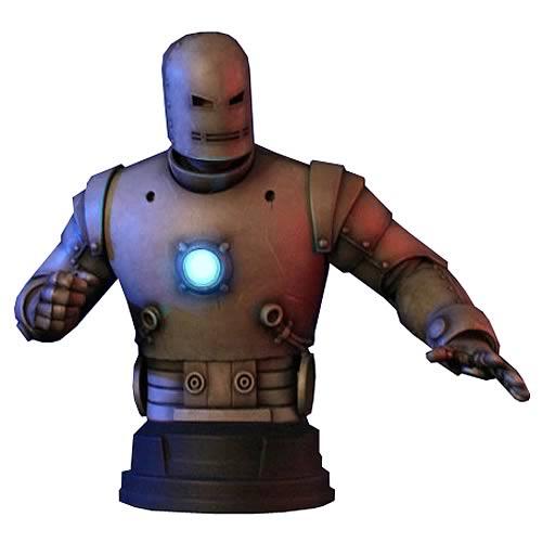 Iron Man Classic Silver Mini Bust