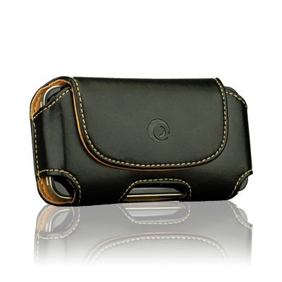 Leather Case with Rotating Belt Clip for iPhone 4 4S