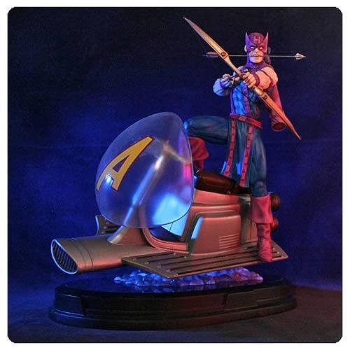 Avengers Hawkeye on Sky-Cycle Statue
