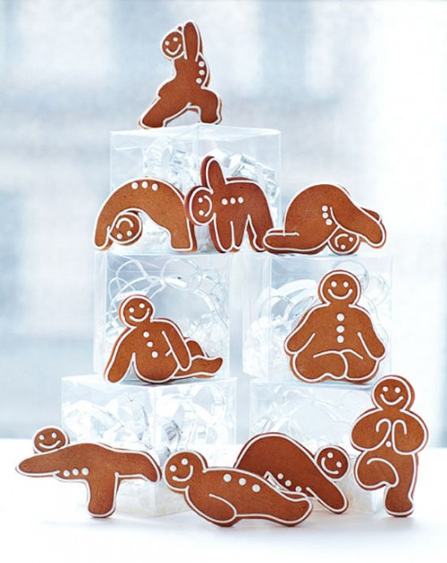 Gingerbread Yoga Poses